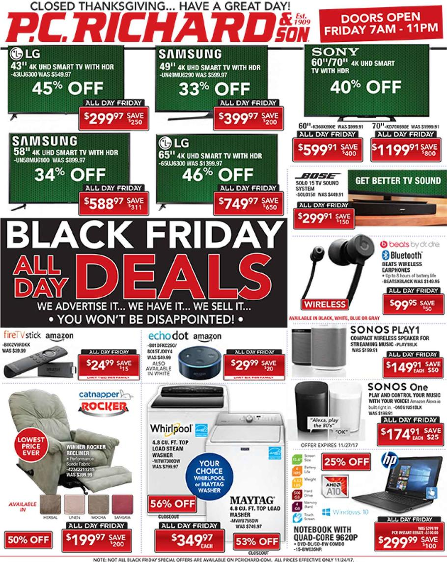 P.C. Richard & Son Black Friday page 1